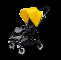 Bugaboo Bee Aluminium Black Seat Bright Yellow Canopy