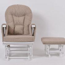 Πολυθρόνα Θηλασμού Wooden Glider White-Brown - Bebe Home Βρεφικά Είδη