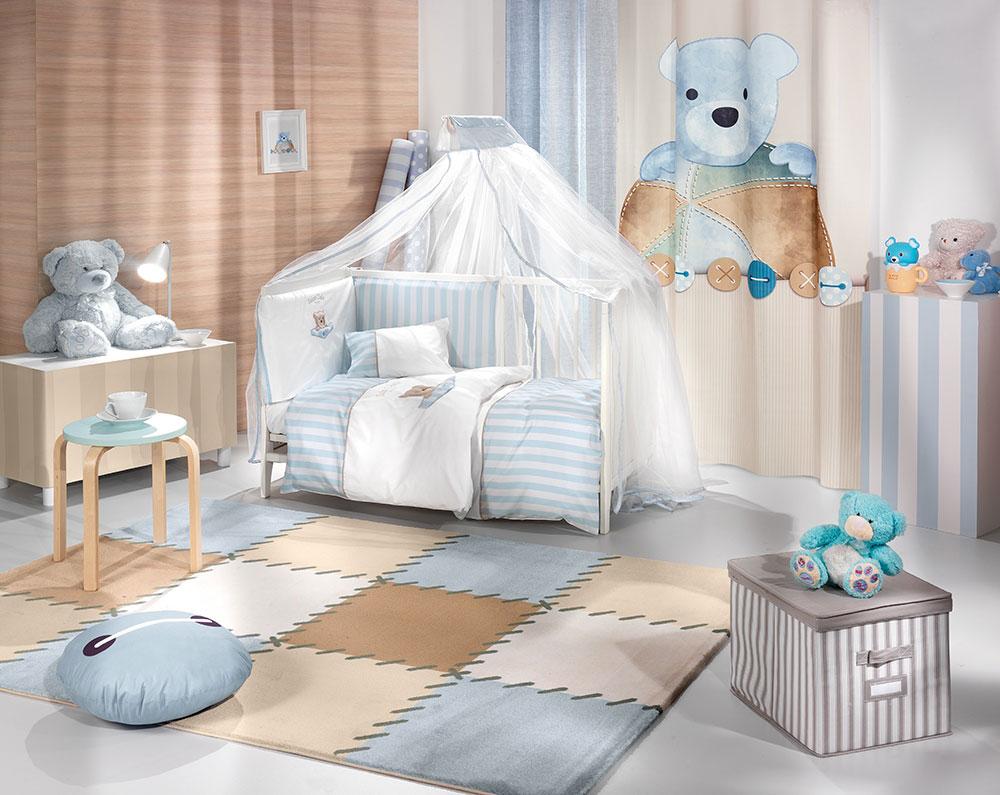 Saint Clair 5-Piece Bedding Set Teddy Sky