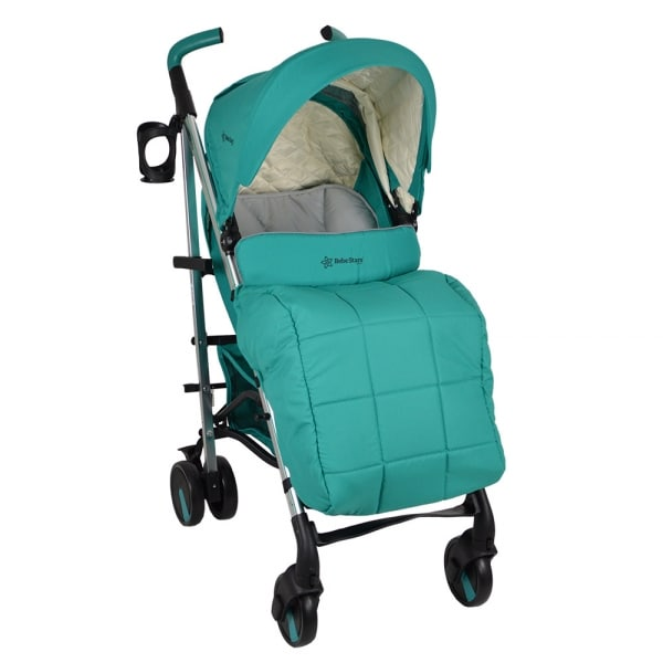 Lightweight Mito Aqua Stroller With Footmuff