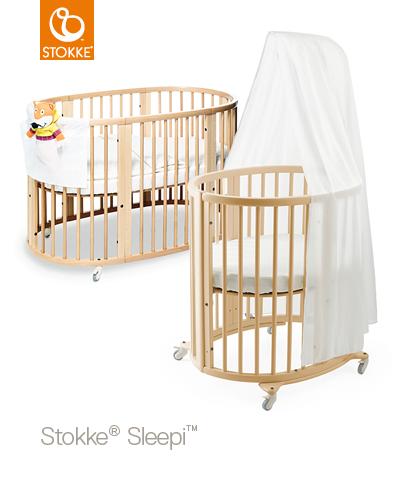 Stokke Sleepi Mini + Sleepi Bed Extension Natural