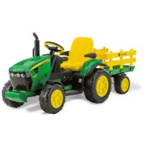 Peg Perego Ηλεκτροκίνητο 12 Volt Jd Ground Force With Trailer - Bebe Home Βρεφικά Είδη