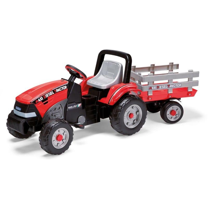 Peg Perego Ποδοκίνητο Maxi Diesel Tractor With Trailer