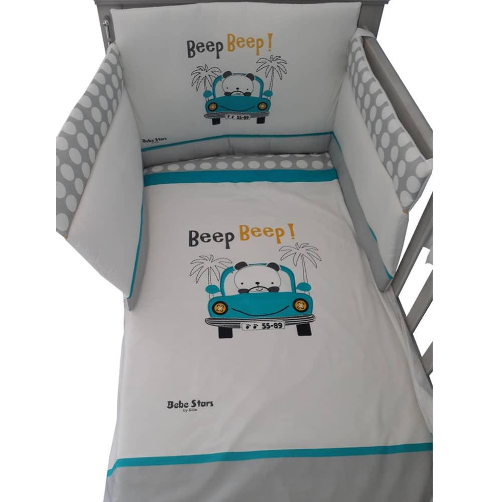 4-Piece BaBy Bedding Set Beep Beep