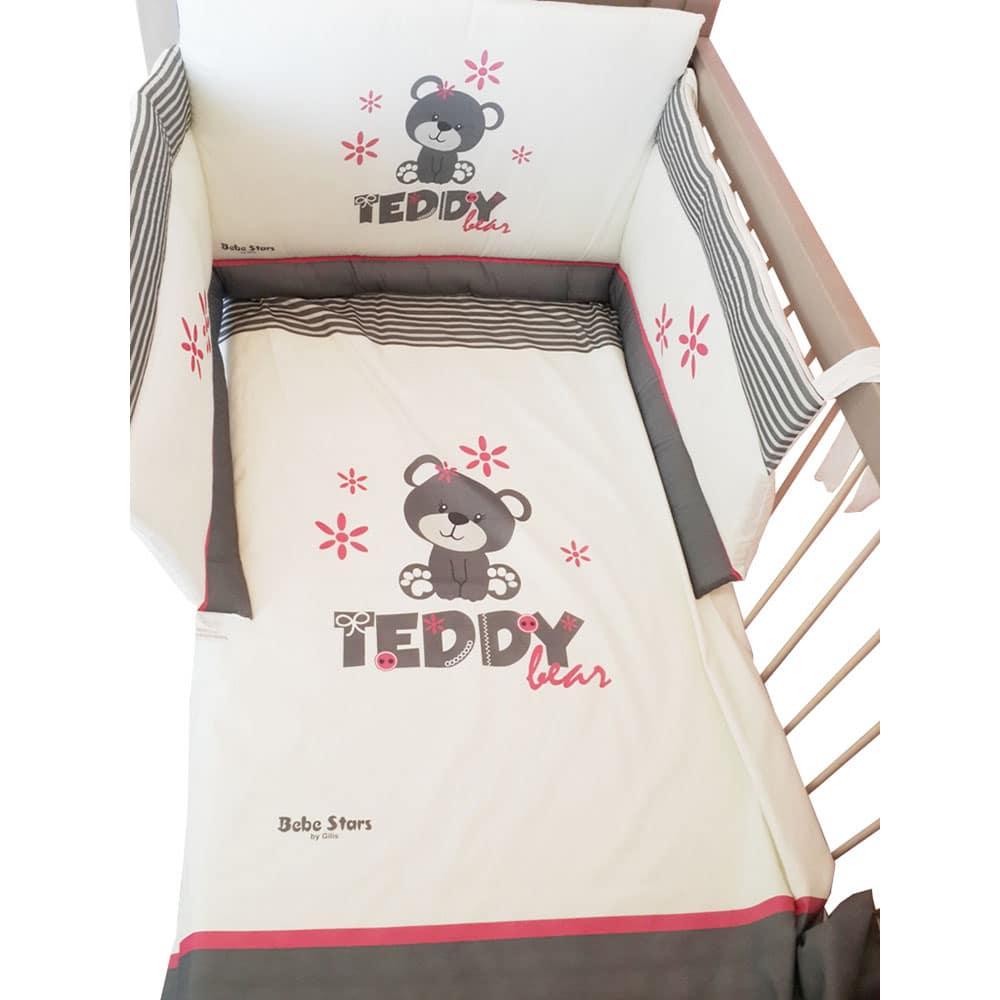 4-Piece BaBy Bedding Set Teddy Flower
