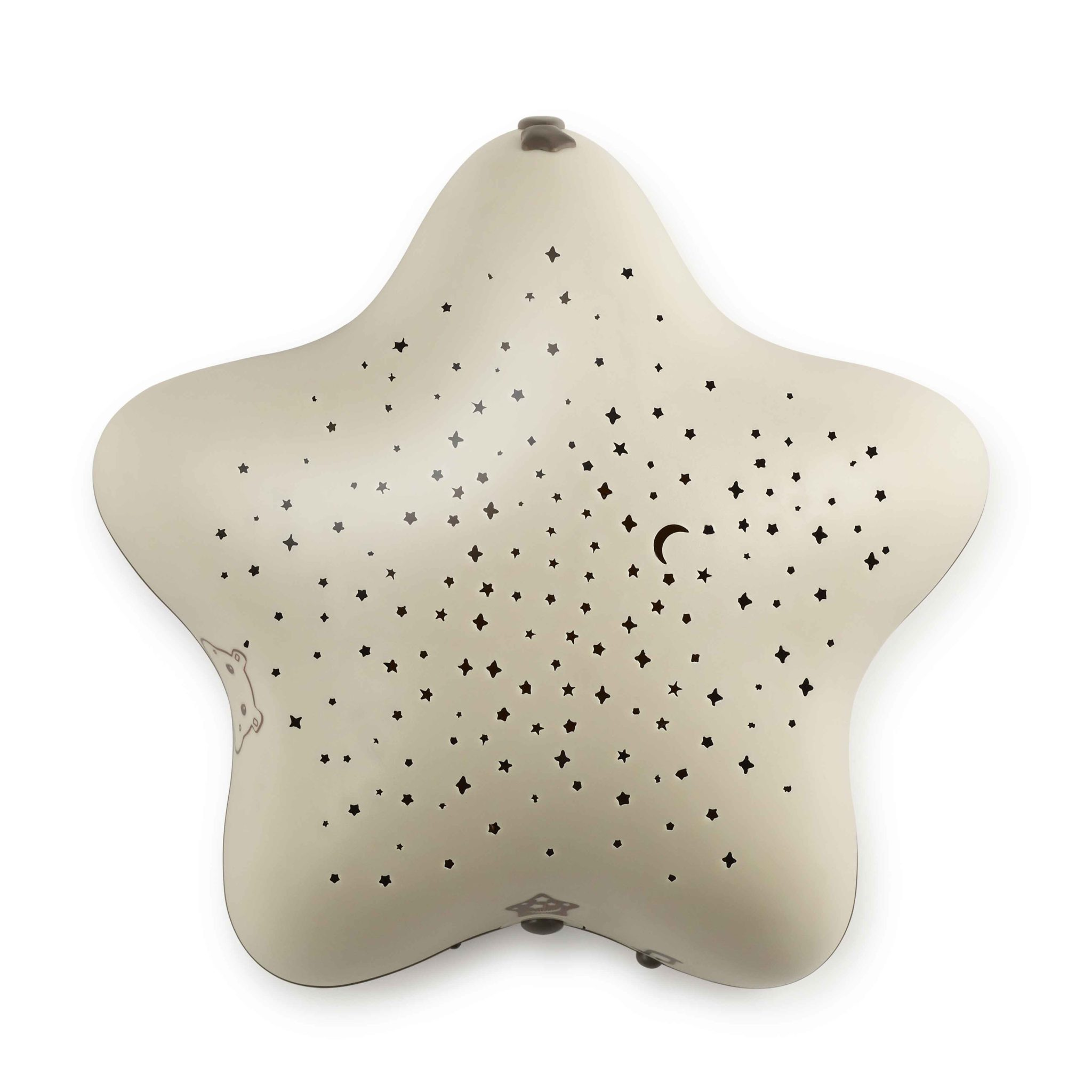 Pabobo Musical Star Projector (Beige). Charged Via USB