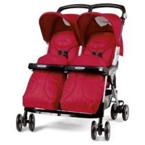 Peg Perego Aria Twin Geo Red Καρότσι Για Δίδυμα - Bebe Home Βρεφικά Είδη
