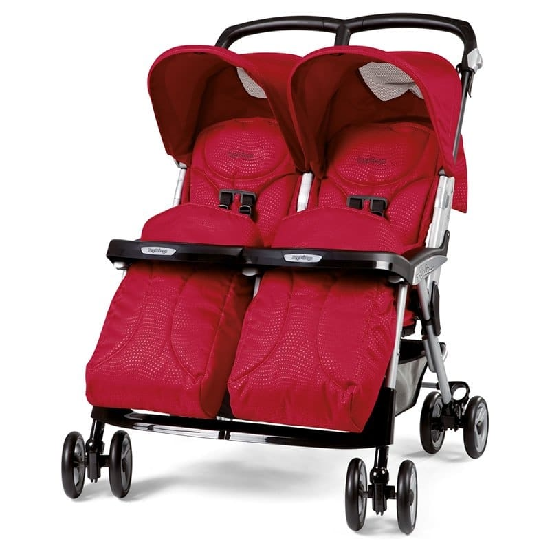 Peg Perego Aria Twin Geo Red Stroller For Twins