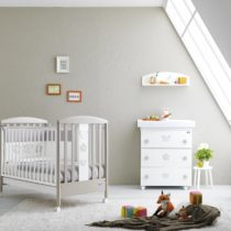 Pali Βρεφικό κρεβατάκι Birillo Warm Grey/White