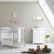 Pali Βρεφικό κρεβατάκι Birillo Warm Grey/White - Bebe Home Βρεφικά Είδη