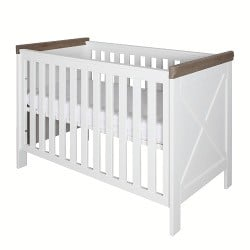 6ffacebe1d4 Κρεβάτι Βρεφικό (0.60X1.20 Cm) Savona White Grey With Cross - Bebe Home