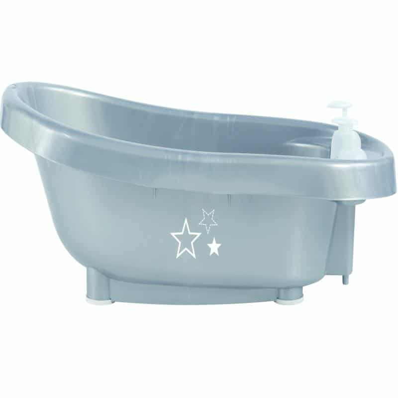 Bebejou Μπάνιο Mε Ενσωματωμένο Θερμόμετρο Νερού Silver Stars