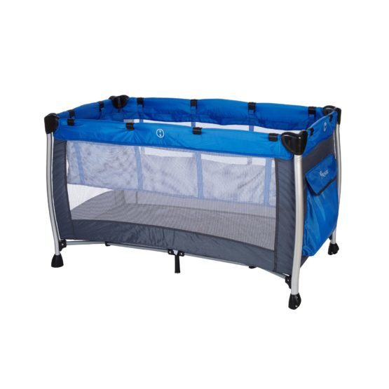 BABY ADVENTURE Παρκοκρέβατο 2 Θέσεων HOLIDAY ALUMINIUM Blue Grey