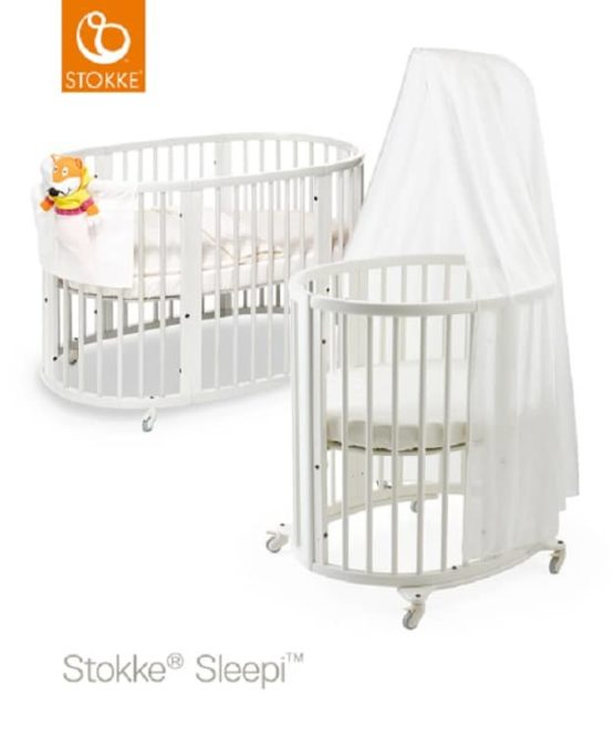 Stokke Sleepi Mini + Bed White