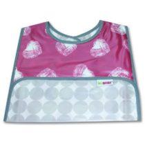 Πλαστική Σαλιάρα Minene Ροζ Καρδούλες - Bebe Home Βρεφικά Είδη
