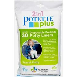 Potette Plus 2-In-1 Replacement, Biodegradable Bags 30 Pieces