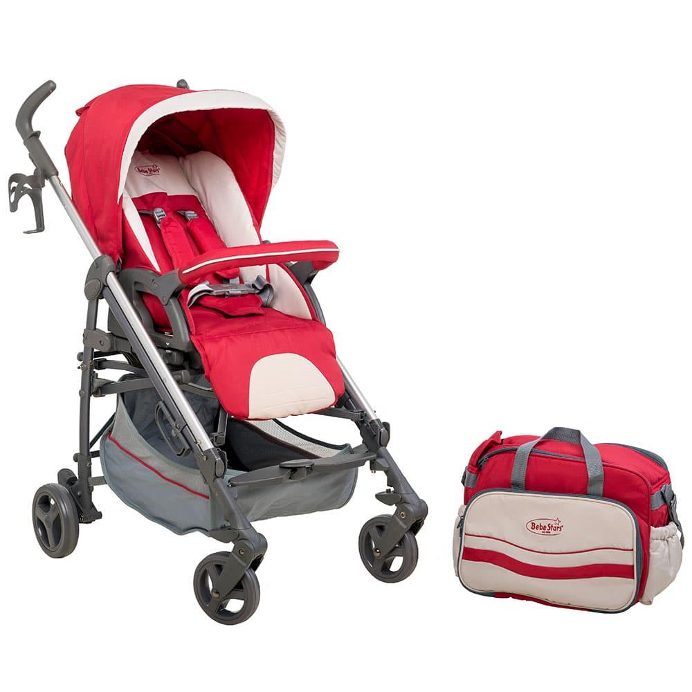 Bebe Stars Gabi Red Aluminium Stroller