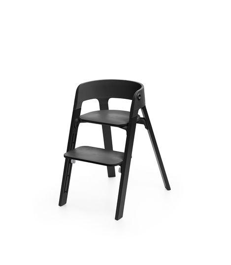 Stokke Steps Seat Black-Oak Black Feeding Chair