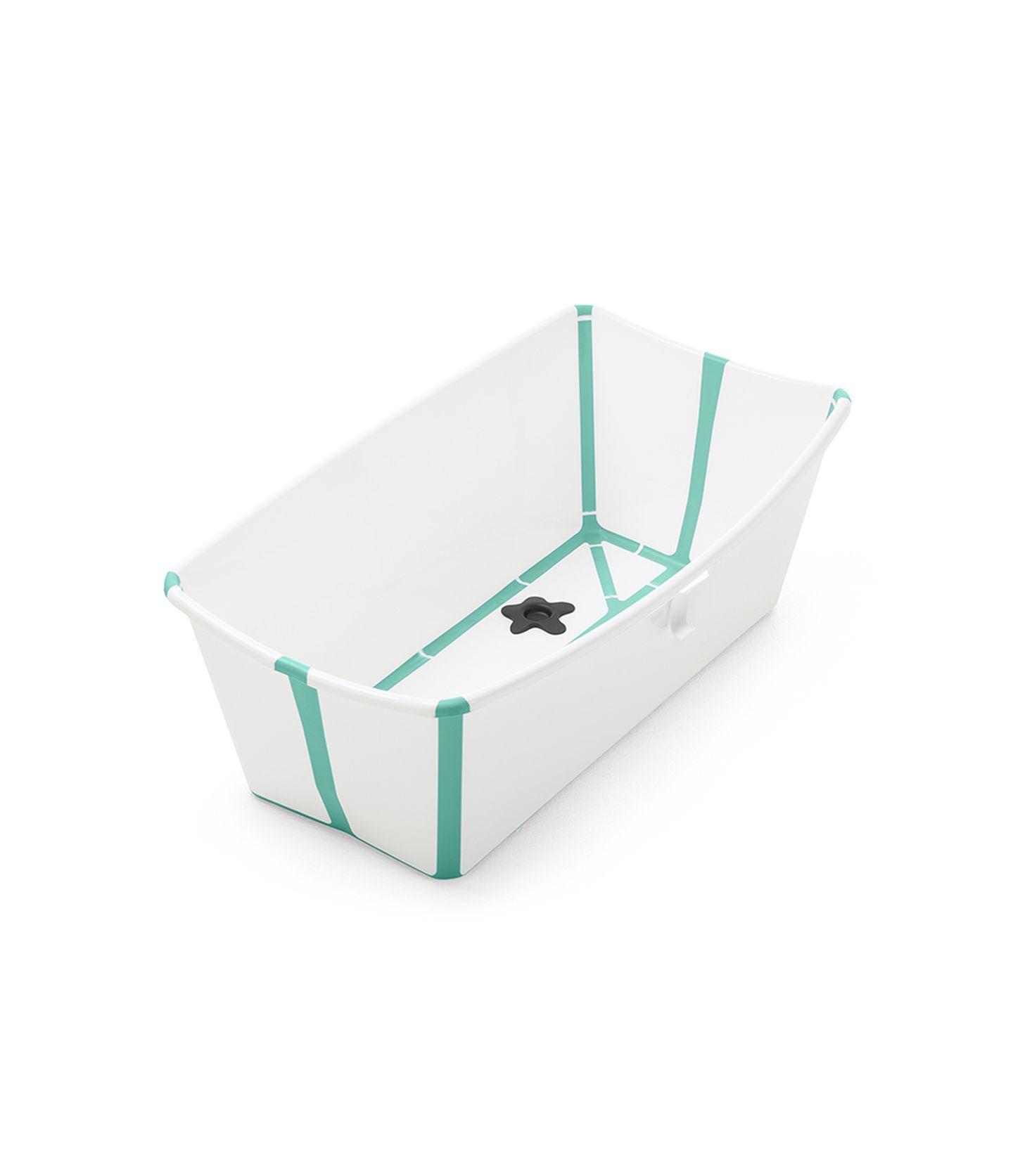 Stokke Flexi Bath With Thermosensitive Valve White Aqua