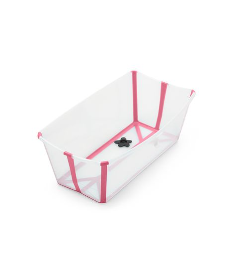 Stokke Flexi Bath με θερμοευαίσθητη βαλβίδα Transparent Pink
