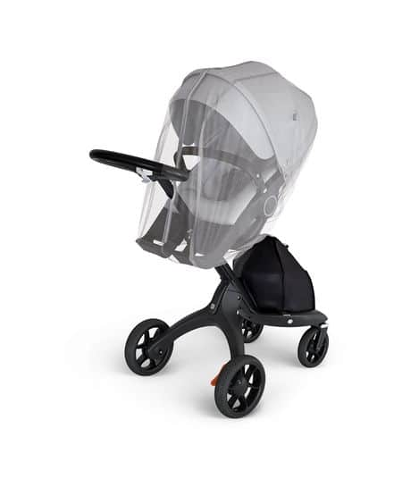 Stokke Xplory Blk Chassis Seat Brushed Grey Mosquito Net.3D.SP 37233