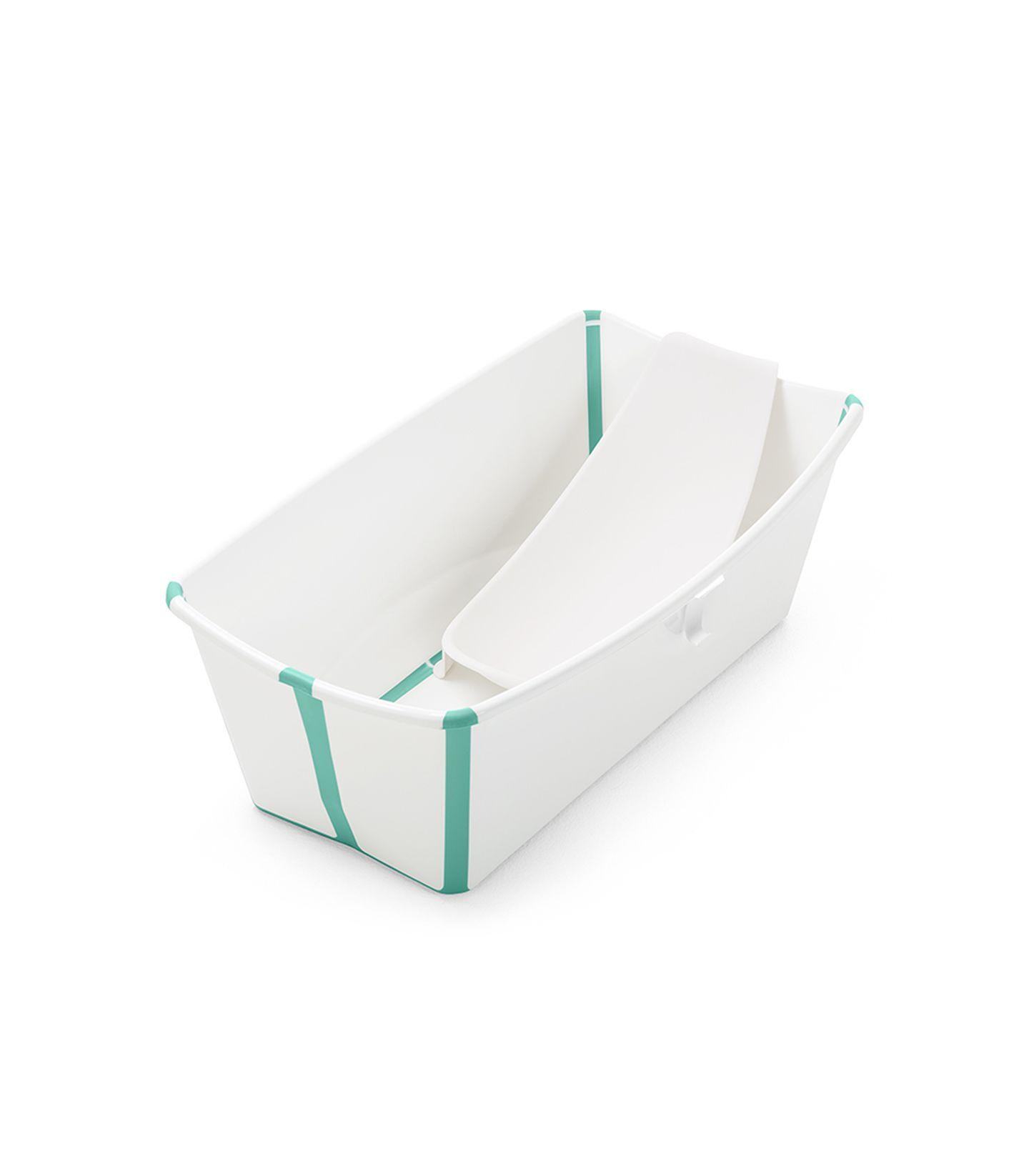 Stokke Flexi Bath Bundle με υποστήριξη και θερμοευαίσθητη βαλβίδα White Aqua