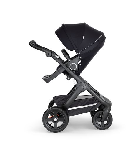 Stokke® Trailz™ Stroller Terrain Wheels – Black Handle- Black