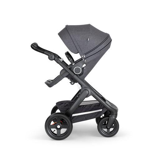Stokke® Trailz™ Stroller Terrain Wheels – Black Handle- Black Melange