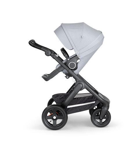 Stokke® Trailz™ Stroller Terrain Wheels – Black Handle- Grey Melange