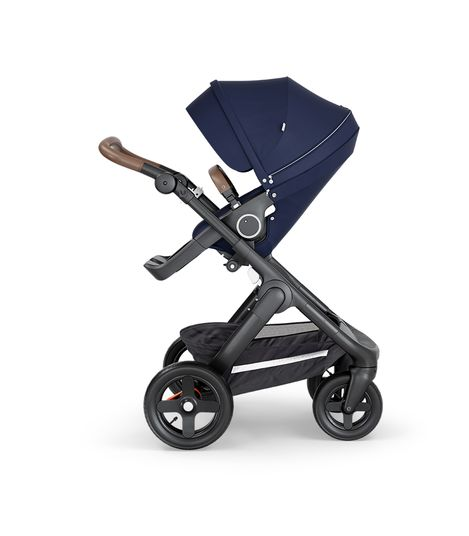 Stokke® Trailz™ Stroller Terrain Wheels – Brown Handle- Deep Blue