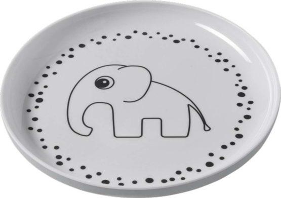 DONE BY DEER Πιάτο Happy Dots Grey