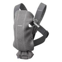 BabyBjörn Mini μάρσιπος 3D Jersey Dark Grey - Bebe Home Βρεφικά Είδη