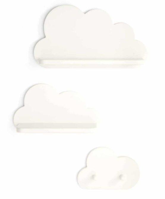 MAMAS&PAPAS Σετ 3 τμχ Ράφια Cloud White