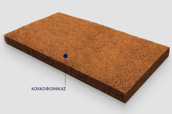 Grecostrom παιδικό στρώμα Ιόλη (65x140cm) με ύφασμα από οργανικό βαμβάκι
