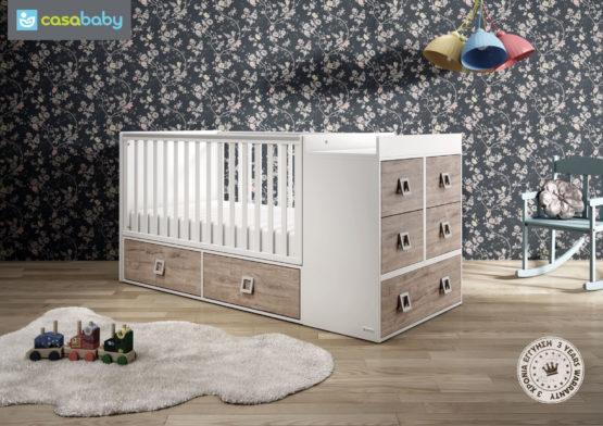 CasaBaby Πολυμορφικό Κρεβάτι Modular Naturale