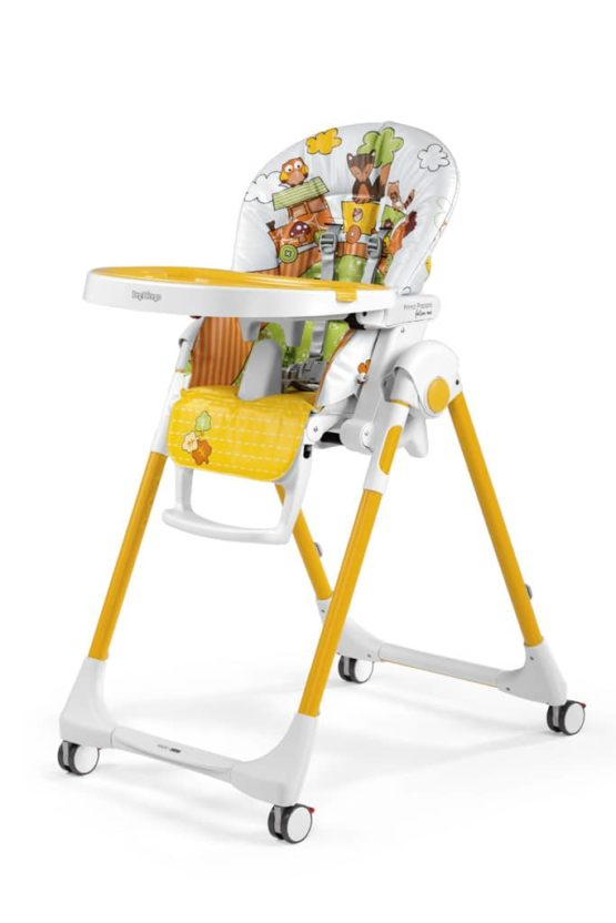 Peg Perego P.Pappa Follow Me Fox & Friends Feeding Chair (Play Bar Included As A Gift)