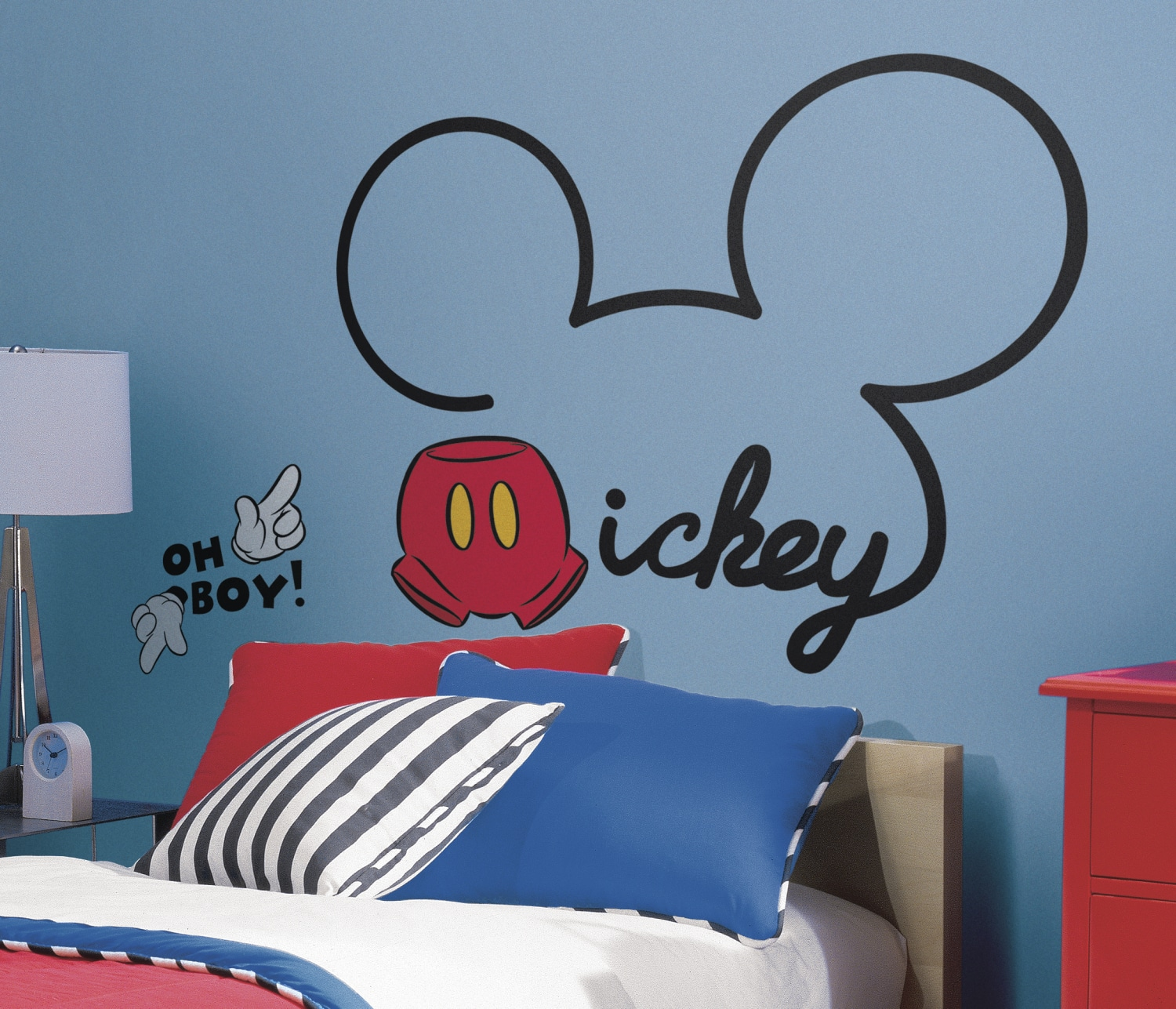 RMK2560GM All About Mickey Wall Decals Roomset