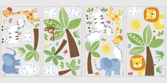 RMK2635SCS Jungle Friends Wall Decals Product