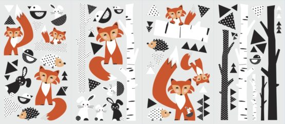 RMK2721SCS Fox Forest Peel And Stick Wall Decals Product