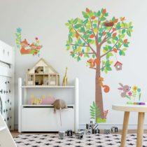 ROOMMATES Αυτοκόλλητα Τοίχου «Δέντρο & Ζώα του δάσους»