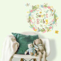 "ROOMMATES Αυτοκόλλητα Τοίχου ""Sweet Baby"" - Bebe Home Βρεφικά Είδη"