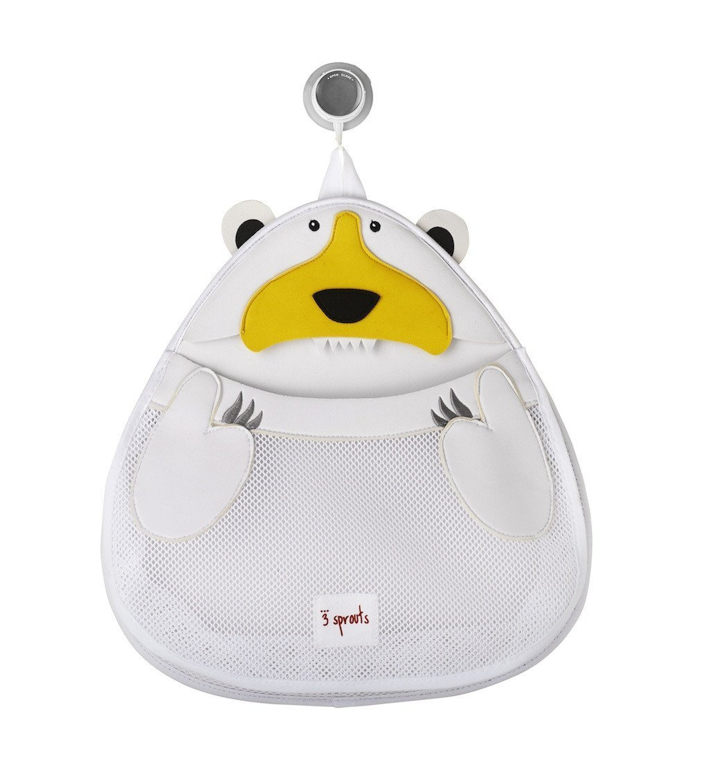 3 Sprouts Θήκη για τα παιχνίδια μπάνιου Bath storage Polar Bear