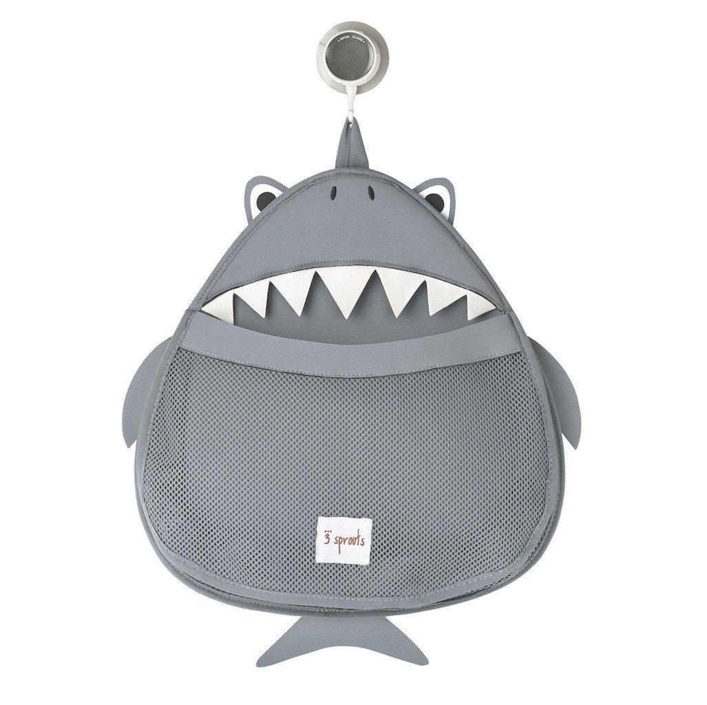 3 Sprouts Θήκη για τα παιχνίδια μπάνιου Bath storage Shark