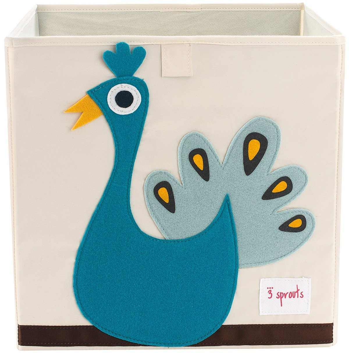 3 Sprouts Peacock Toys Storage Box