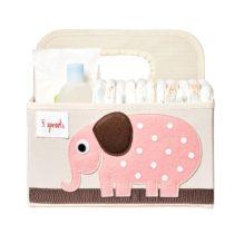 3 Sprouts Θήκη για πάνες & καλλυντικά Diaper Caddy Elephant - Bebe Home Βρεφικά Είδη