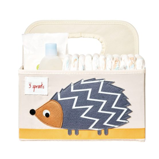 3 Sprouts Hedgehog Diaper And Cosmetics Caddy
