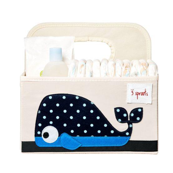 3 Sprouts Θήκη για πάνες & καλλυντικά Diaper Caddy Whale