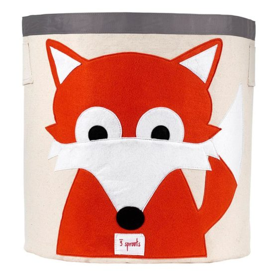 3 Sprouts Fox Toys Storage Bin