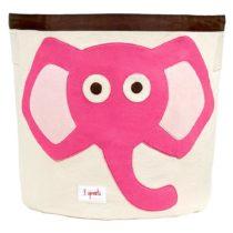 3 Sprouts Καλάθι παιχνιδιών Storage bin Elephant pink