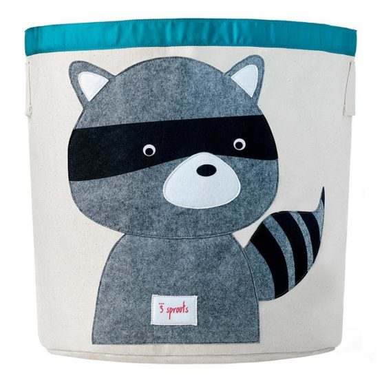 3 Sprouts Raccoon Toys Storage Bin